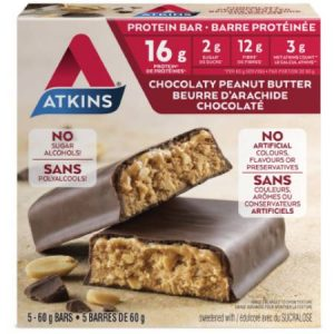 Atkins Advantage Meal Protein Bars Chocolate Peanut Butter 5x60g