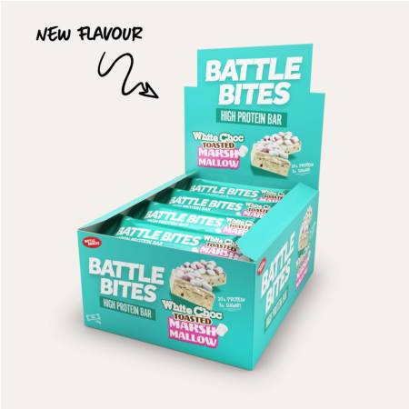 Battle Bites Protein Bar - White Chocolate Toasted Marshmallow Box of 12