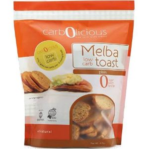 Carbolicious Melba Low Carb Toast Plain 4oz is suitable for phase 1 and 2