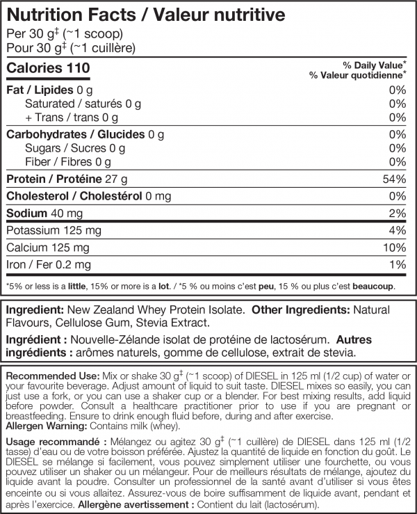 Diesel Protein shake ( 2lb ) - Cookies 'n' Cream