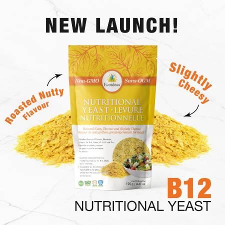 Ecoideas Nutritional Yeast Keto Friendly NON GMO 125g