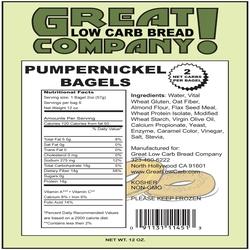 Great low carb bagel - Pumpernickel