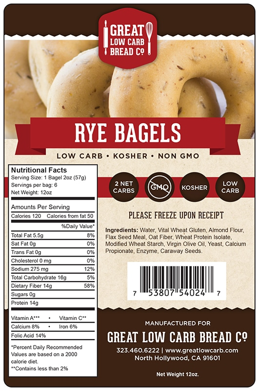 Great Low Carb Bagel - Rye