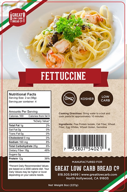 Great Low Carb Bread Company Pasta Fettuccine 227g