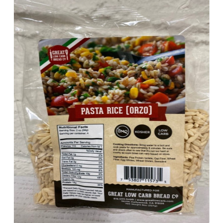 Great Low Carb Bread Company Pasta Rice (Orzo) 227g