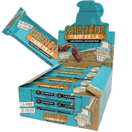 Grenade Carb Killa Protein Bar - Chocolate Chip Salted Caramel Box of 12
