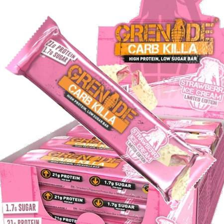 Grenade Carb Killa Protein Bar - Strawberry Ice Cream 62g