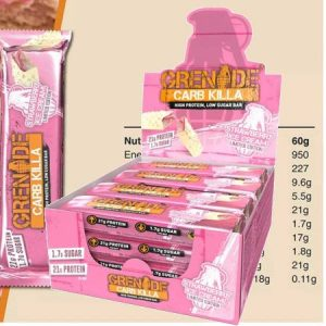 Grenade Carb Killa Protein Bar - Strawberry Ice Cream Box of 12 Bar