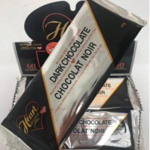 Heart Chocolate Dark Chocolate No Sugar Added 43g