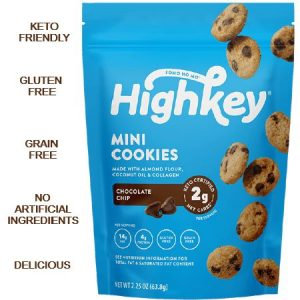 High Key Low Carb Mini Cookies Chocolate Chips 56.6g, is suitable for phase 1 and 2
