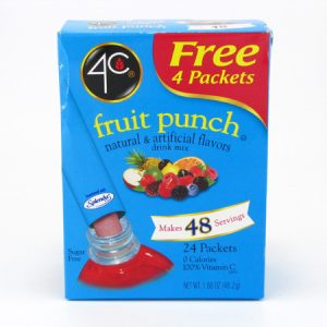 4C Totally light to go drink mix - Fruit punch front of box image