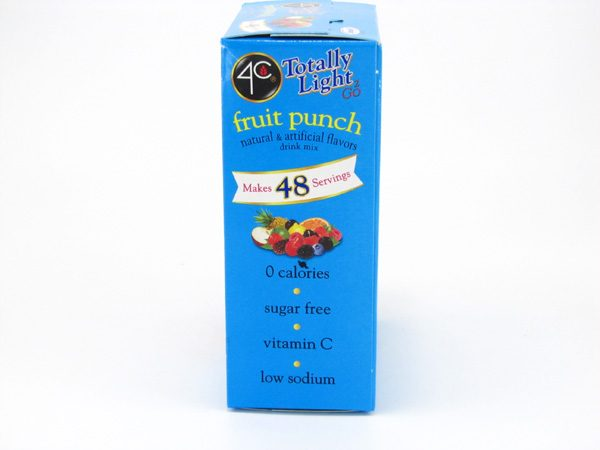 4C Totally light to go drink mix - Fruit punch side of box image