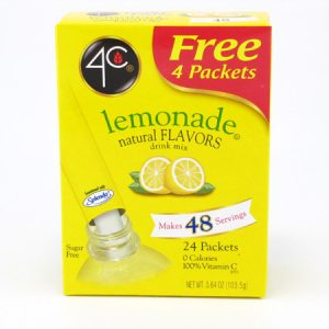 4C Tottaly light to go drink mix - Lemonade front of box image