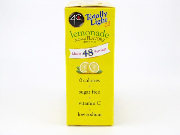 4C Tottaly light to go drink mix - Lemonade side of box image