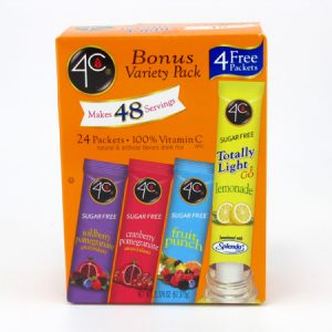 4C Totally light to go drink mix - Bonus variety pack front of box image