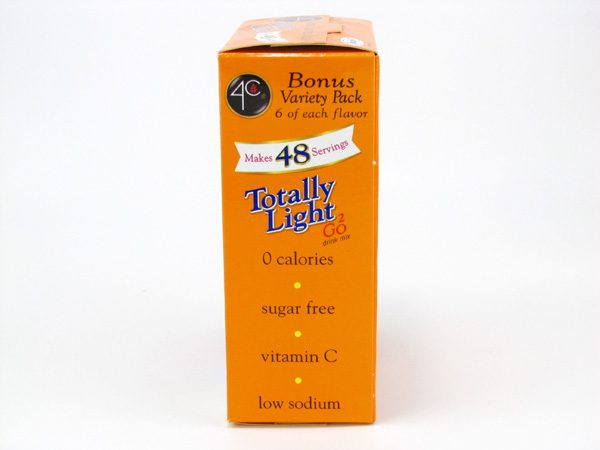 4C Totally light to go drink mix - Bonus variety pack side of box image