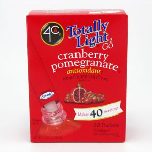 4C Tottaly light to go drink mix - Cranberry pomegranate front of box image