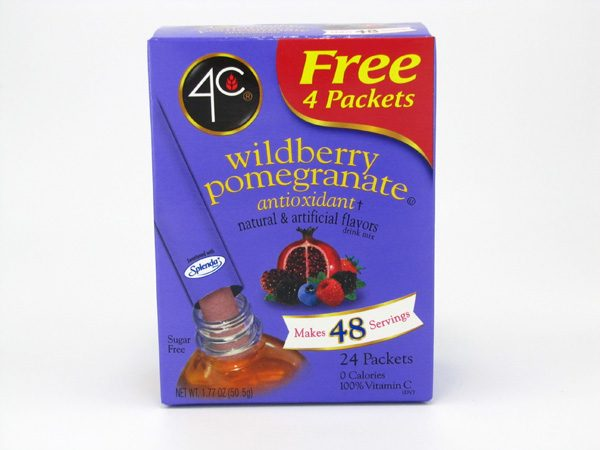 4C Tottaly light to go drink mix - Wildberry pomegranate front of box image