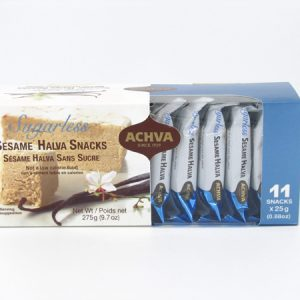 Achva Sesame Halva Snacks top of box image