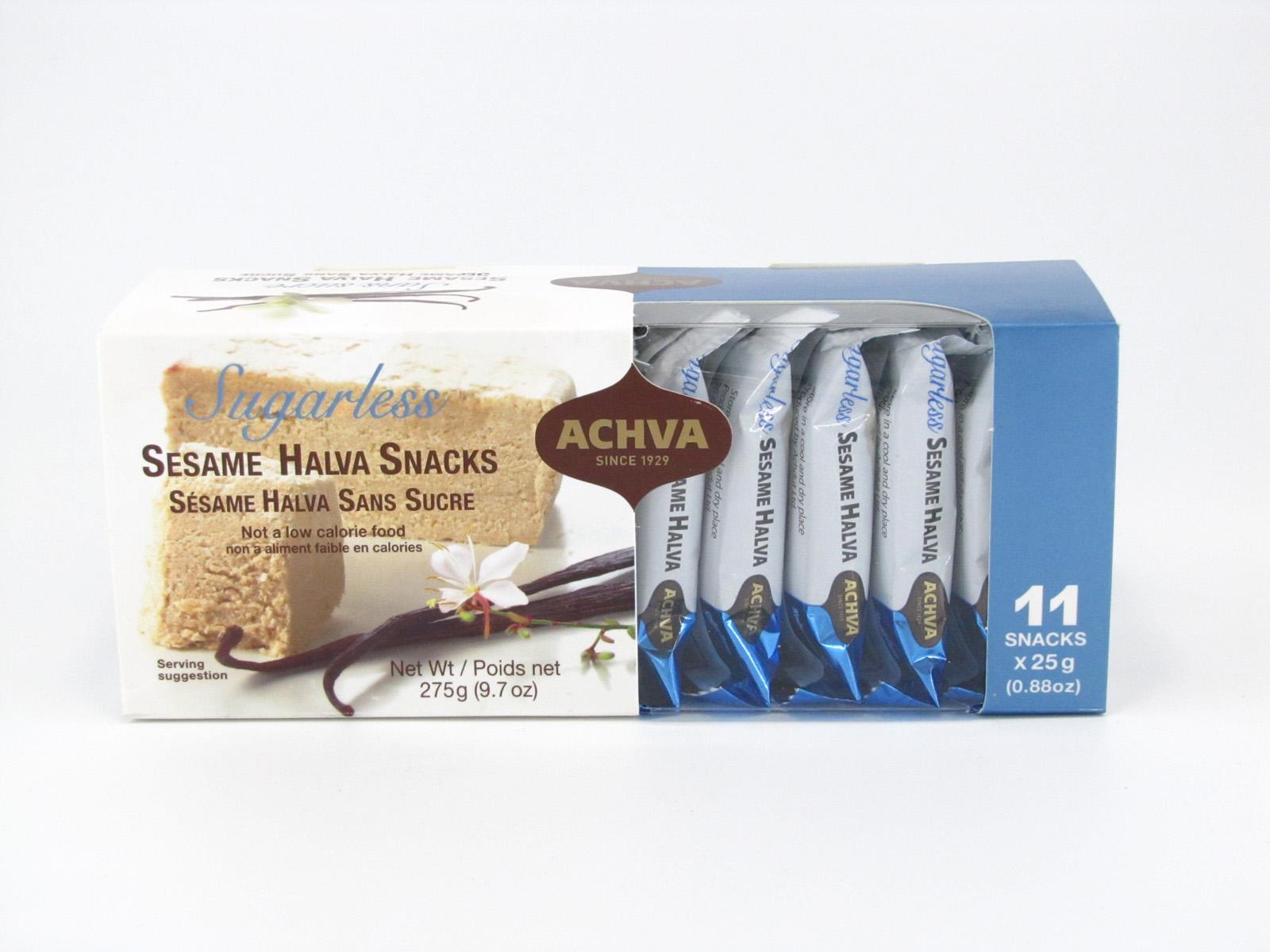 Achva Sesame Halva Snacks top of box image