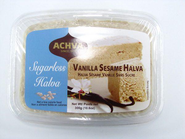 Achva Vanilla Sesame Halva Top of Container Image