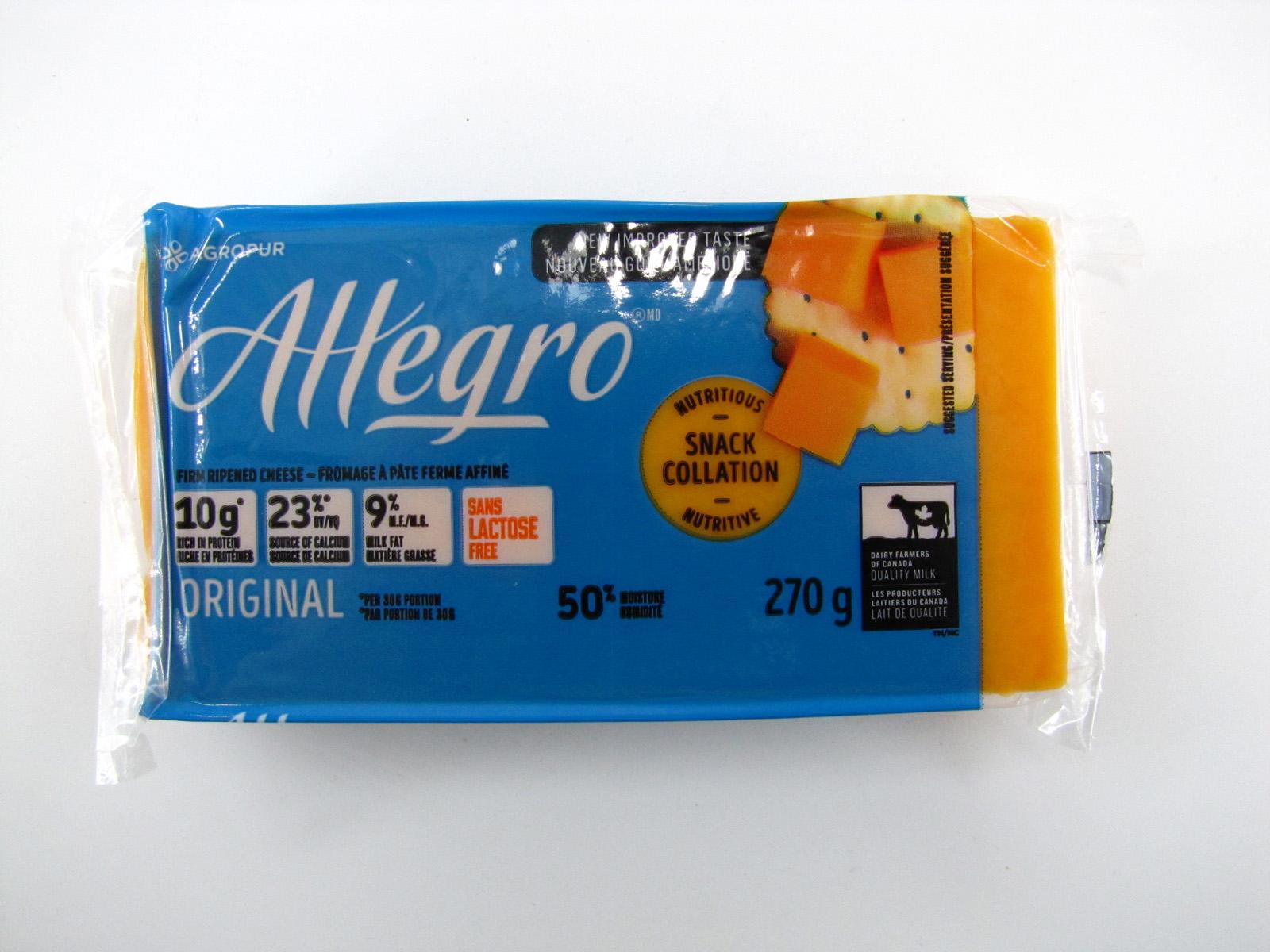 Allegro Cheese - Original Coloured front image