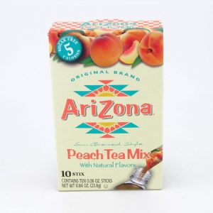 Arizona Peach Tea Mix front of box image