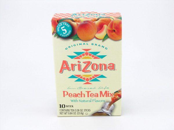 Arizona Peach Tea Mix front of box image