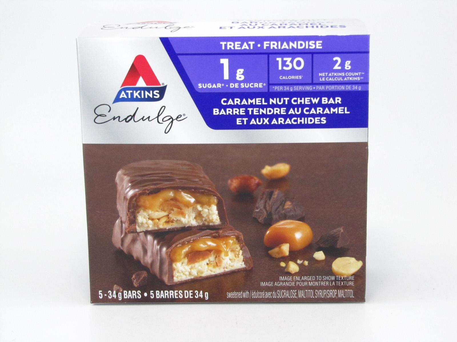 Atkins Endulge - Caramel Nut Chew Bar front of box image