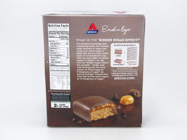 Endulge Chocolate Caramel Mousse Bar back of box image