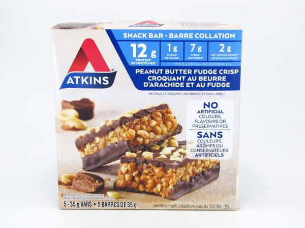Atkins Peanut Butter Fudge Crisp Bar front of box image