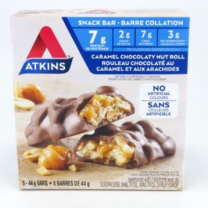 Atkins Caramel Chocolate Nut Roll front of box image