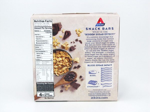 Chocolate Chip Crisp Bar back of box image