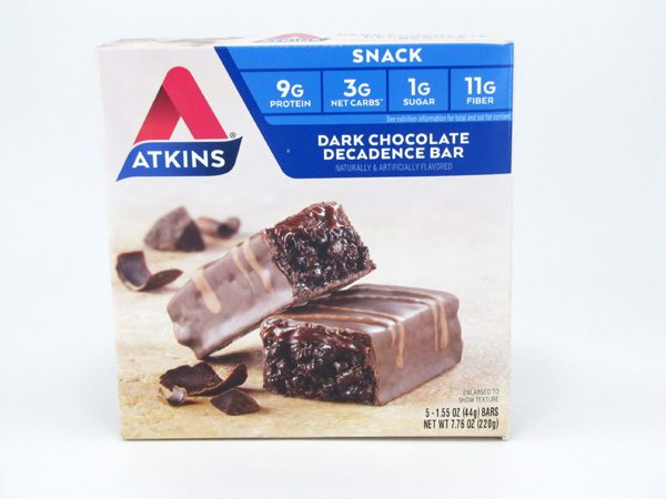 Atkins Dark Chocolate Decadence Bar front of box image