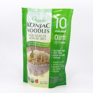 Organic Konjac Noodles front of bag