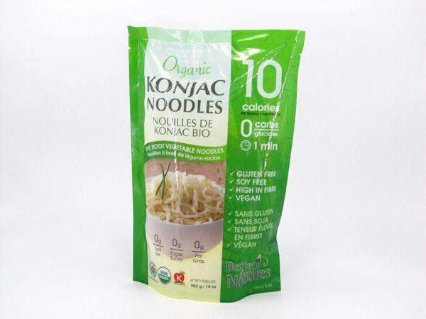 Organic Konjac Noodles front of bag