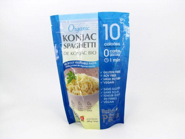 Organic Konjac Spaghetti front of bag