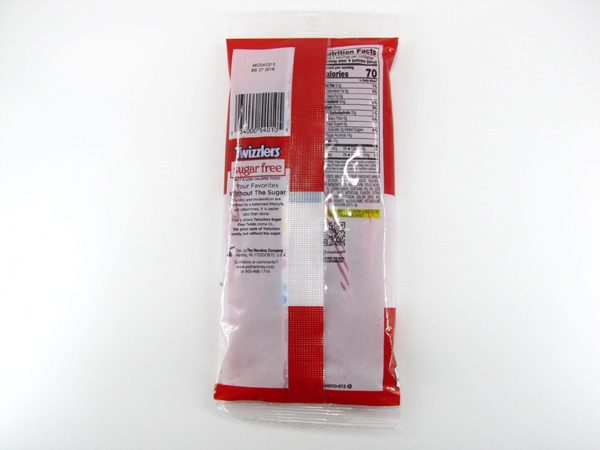 Twizzlers Sugar Free - back view