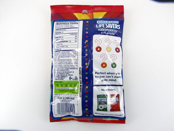 LifeSavers 5 Flavours - back view