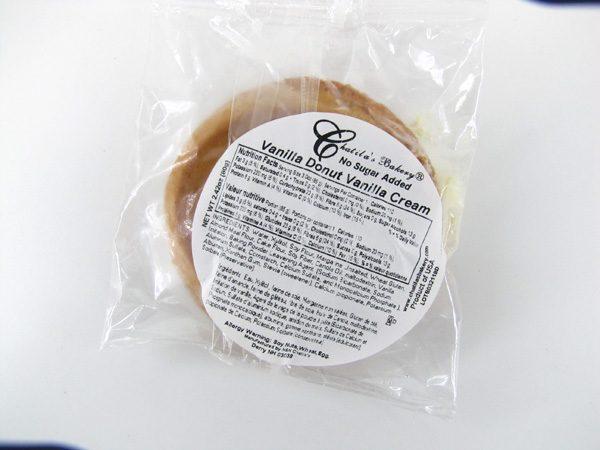Chatilas Vanilla Donut Vanilla Cream - back view