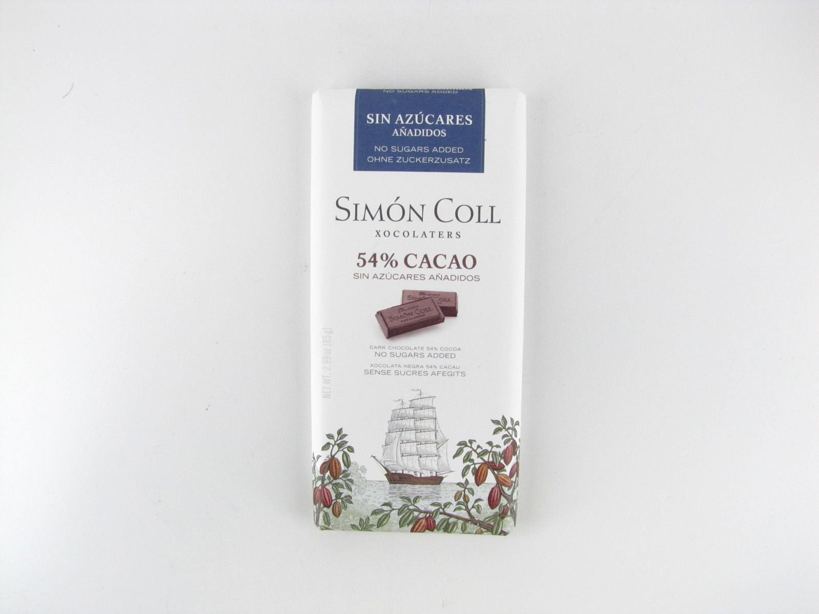 Simon Coll Dark Chocolate - front view