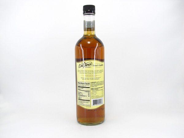 DaVinci Syrup - French Vanilla - back view