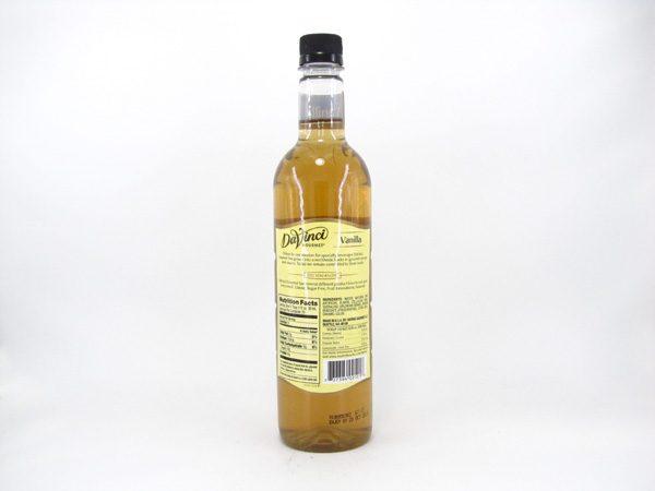 DaVinci Syrup - Vanilla - back view