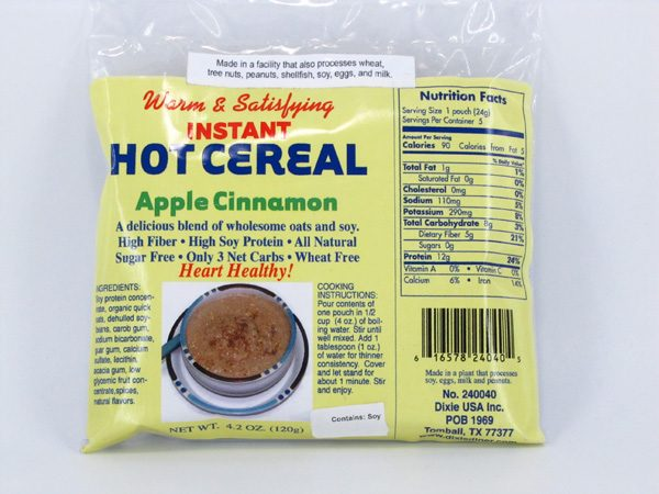 Hot Cereal - Apple Cinnamon - front view