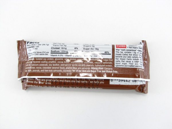 Doctor's CarbRite Diet - Chocolate Caramel Nut - back view