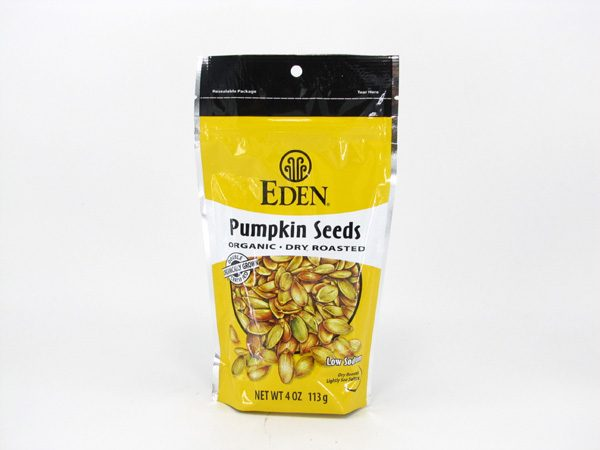Eden Pumpkin Seeds - Dry Roasted - front view