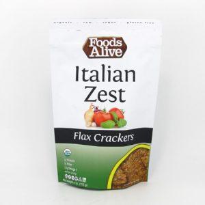 Flax Crackers - Italian Zest - front view