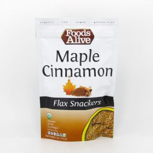 Flax Crackers - Maple & Cinnamon - front view