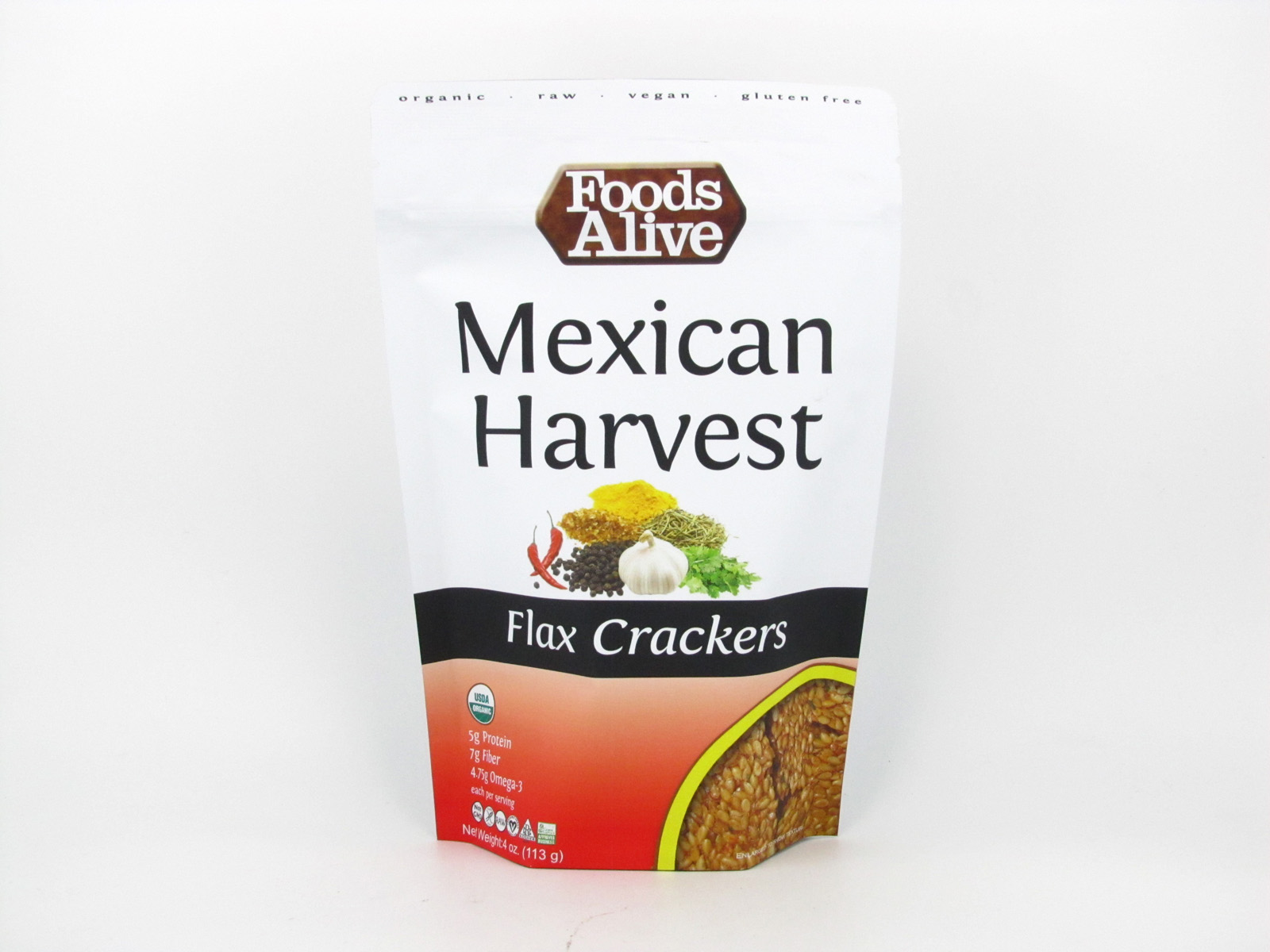 Flax Crackers - Mexican Harvest - front view
