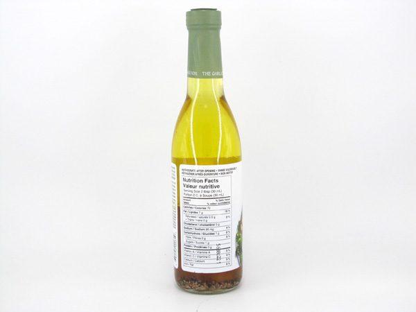 Apple Cider and Garlic Vinaigrette - back view
